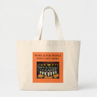 pour les fanatiques bowking sac en toile