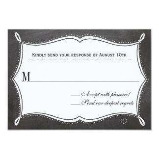 Pour toujours carte de réponse de tableau carton d'invitation 8,89 cm x 12,70 cm