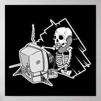 pour toujours squelette sur le support technique d affiche