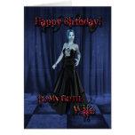 Pour une épouse de Goth, une carte d'anniversaire