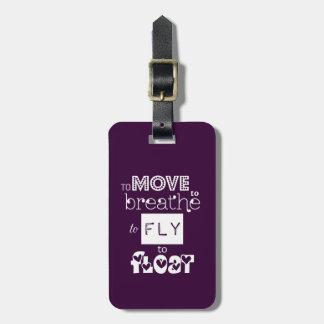 Pour voler pour flotter la citation étiquette à bagage