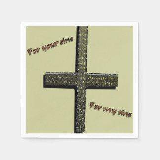 Pour vos péchés, pour mes serviettes de péchés serviette jetable