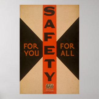 Pour vous pour tout le poster vintage de sécurité