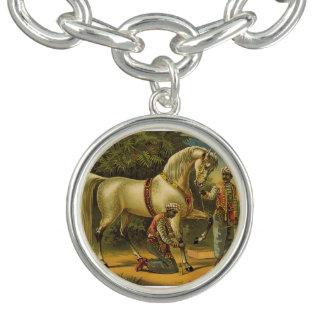 Pourcentage de cheval de PIÈCE EN T Bracelet Avec Breloques