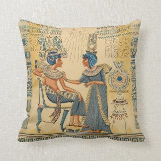 Pourcentage égyptien antique antique vintage coussins carrés