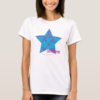 Pourpre-Aqua 2 de damassé T-shirt