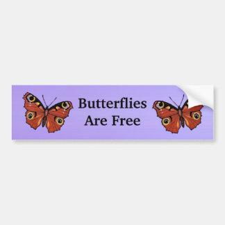 Pourpre assez vif de papillon de monarque autocollant de voiture