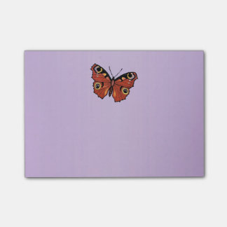 Pourpre assez vif de papillon de monarque post-it®