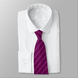 Pourpre avec la cravate diagonale légère mince de