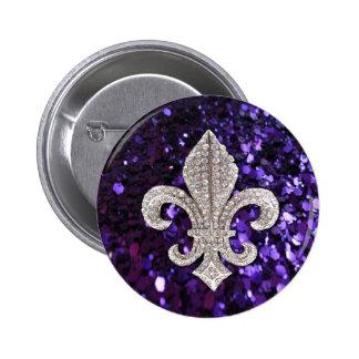 Pourpre de Fleur De Lis Sequins de bijou d'étincel Badges