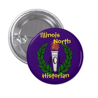 pourpre de jcltorch, l'Illinois, nord, historien Pin's Avec Agrafe