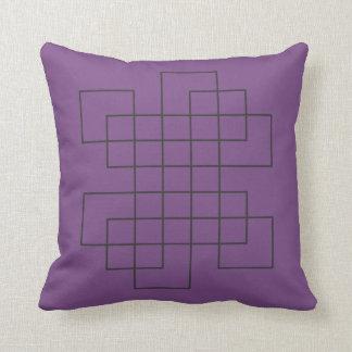 Pourpre de labyrinthe coussins carrés