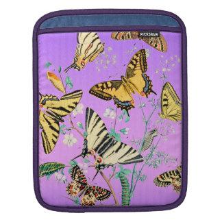 Pourpre de mélange de papillon housse iPad