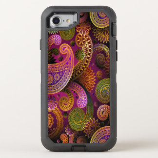 Pourpre de Paisley Coque OtterBox Defender iPhone 8/7