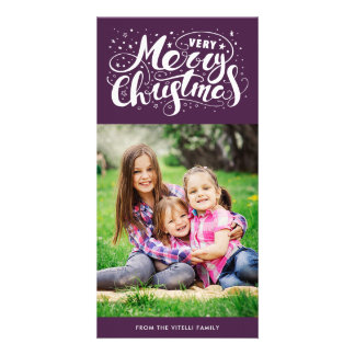 Pourpre de Photocard | de Noël très Joyeux Carte