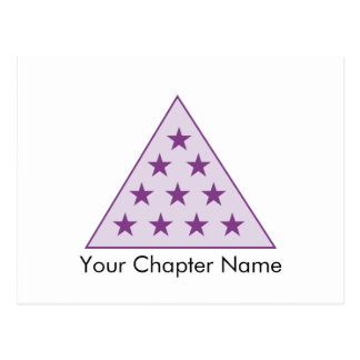 Pourpre de pyramide du sigma pi carte postale