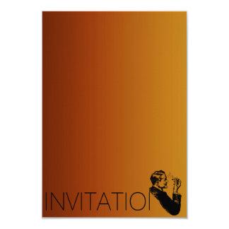 Pourpre d'homme de cigares des messieurs VIP de Carton D'invitation 8,89 Cm X 12,70 Cm