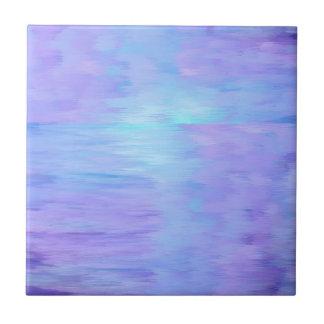Pourpre doux et turquoise d'aquarelle petit carreau carré