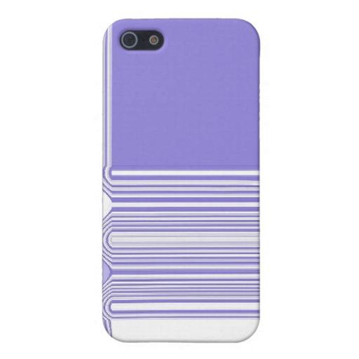 Pourpre et blanc Pern abstrait Étui iPhone 5