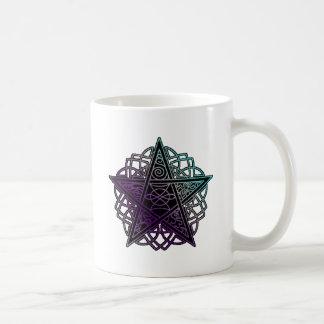 Pourpre et pentagramme complexe d'aqua mug