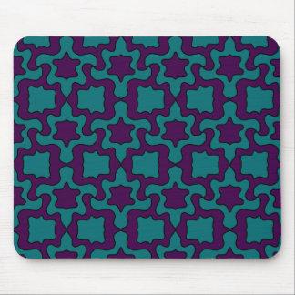 pourpre et tapis de souris de turquoise
