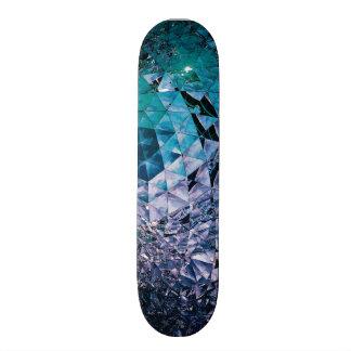 Pourpre et turquoise, TRIANGLE et réflexions Plateaux De Skateboards Customisés