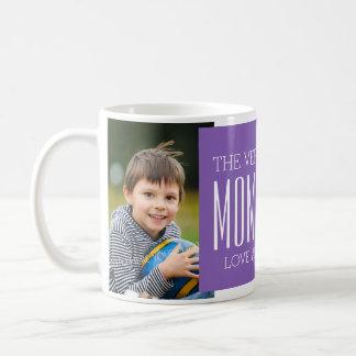 Pourpre fait sur commande de tasse du jour de mère