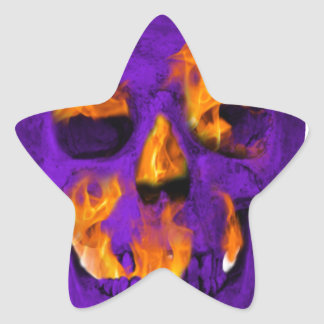Pourpre flamboyant de crâne sticker étoile