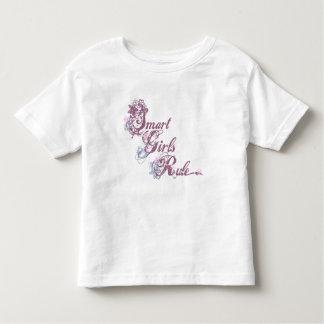 Pourpre futé de règle de filles t-shirt pour les tous petits