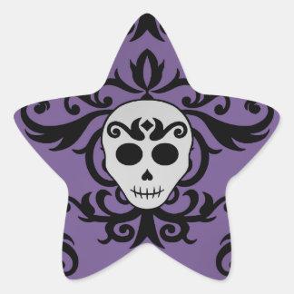 Pourpre girly fascinant gothique mignon de noir de autocollants en étoile