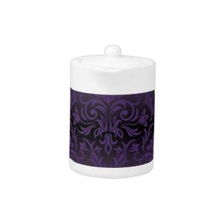 pourpre, ultra-violet, damassé, cru, motif, or,