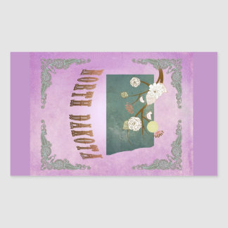 Pourpre vintage de raisin de carte d'état du sticker rectangulaire