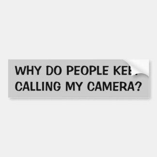 Pourquoi faites les gens continuent à appeler mon autocollant de voiture