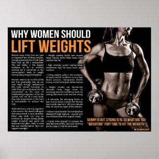 Pourquoi les femmes devraient soulever des poids poster