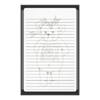 Pourquoi ours papier à lettre personnalisable