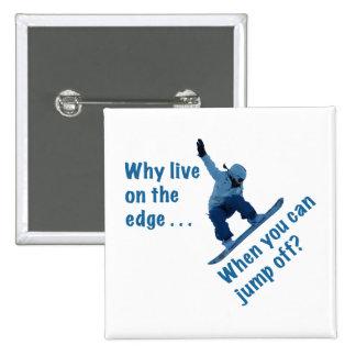 Pourquoi vivant sur le bord badges