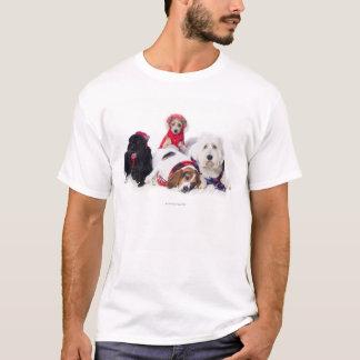 Poursuit les accessoires de port d'hiver t-shirt