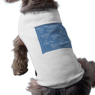 Poursuivez la bande dessinée d agilité - le grand tee-shirt pour chien