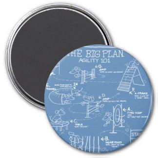 Poursuivez la bande dessinée d'agilité le grand pl magnets pour réfrigérateur