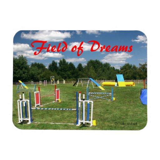 """Poursuivez l'aimant de rêves de cours d'agilité """"c magnet rectangulaire"""