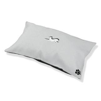 Poursuivez le lit, avec un lévrier là-dessus lit pour animaux