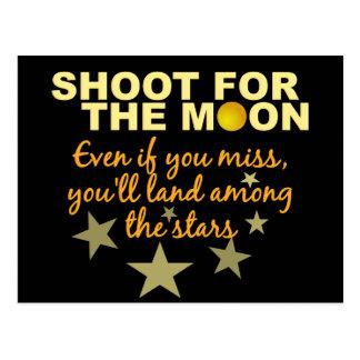 Pousse 4 la carte postale de lune