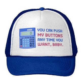 Poussée nerd de calculatrice de maths drôles ma casquette trucker