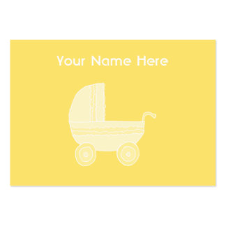 Poussette de bébé jaune carte de visite grand format