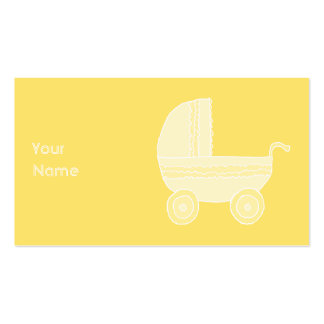 Poussette de bébé jaune carte de visite standard