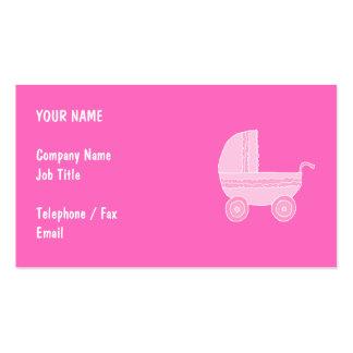 Poussette de bébé. Rose rose-clair et lumineux Carte De Visite Standard