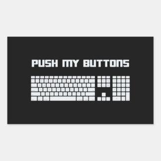 Poussez mon clavier d'ordinateur de boutons sticker rectangulaire