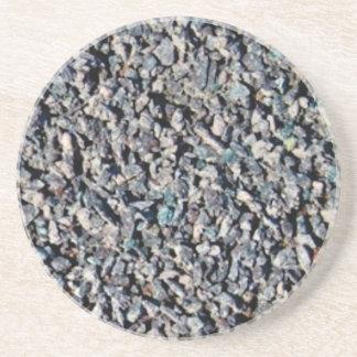 poussière abrasive de papier sablé dessous de verre en grès