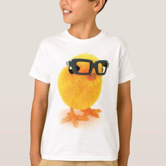 poussin 3d en verres t-shirt