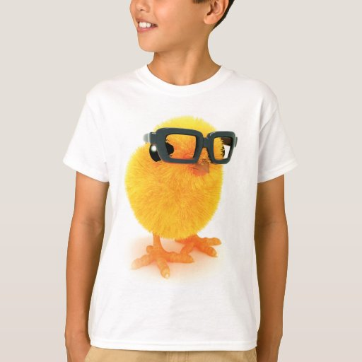 poussin 3d en verres t-shirts